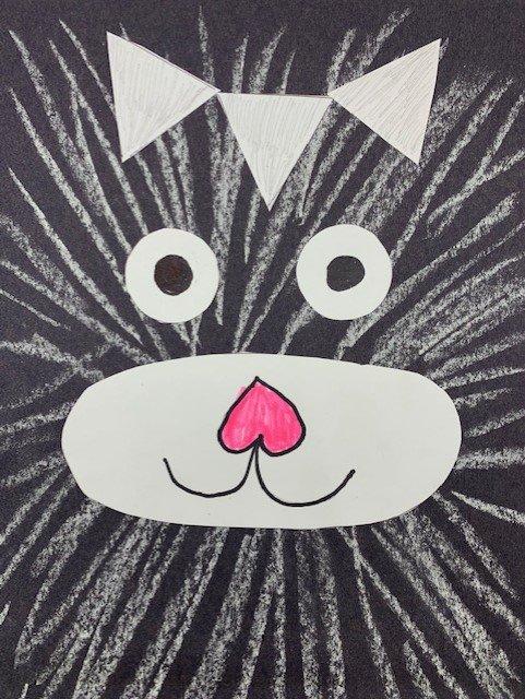 Read It Make It: Cat Chalk Drawing